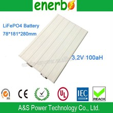 Wholesale Super Power Storage Batteries 3.2V 100AH LiFePO4 Prismatic Cell Rechargeable ups Battery for rc boat