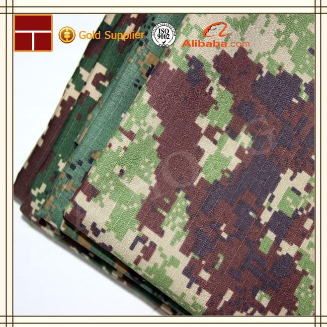 polyester cotton blend fabric rip stop camouflage