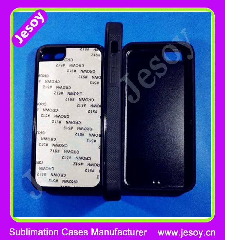 JESOY Sublimation Heat Transfer Phone Cover Case For iPhone 5 5S 6 2D TPU PC Blank Case