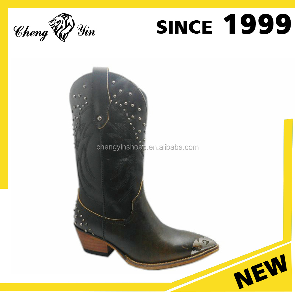 Modern Design China Wholesale Western Cowboy Leather Boots