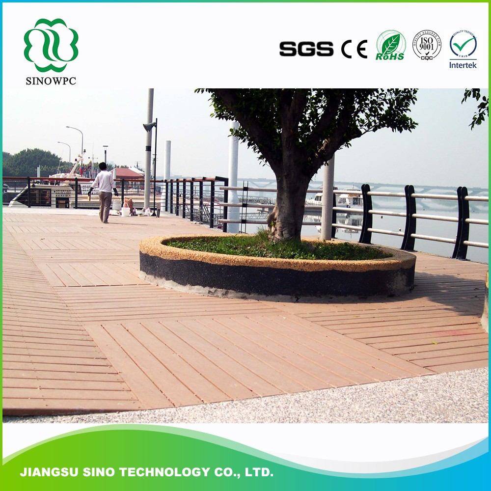 Outdoor wpc board decking wood flooring easy installed wpc composite decking