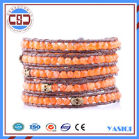 manufacturer ladies watches accessories 4mm faceted brown crystal women bracelet