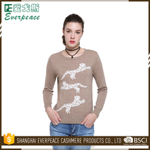 Selected material ladies fashion korean sweater pullover