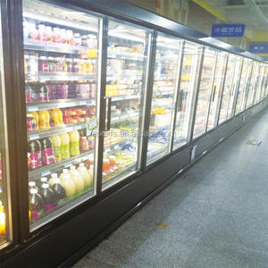 Commercial open display chiller for vegetable and fruit display in supermarket