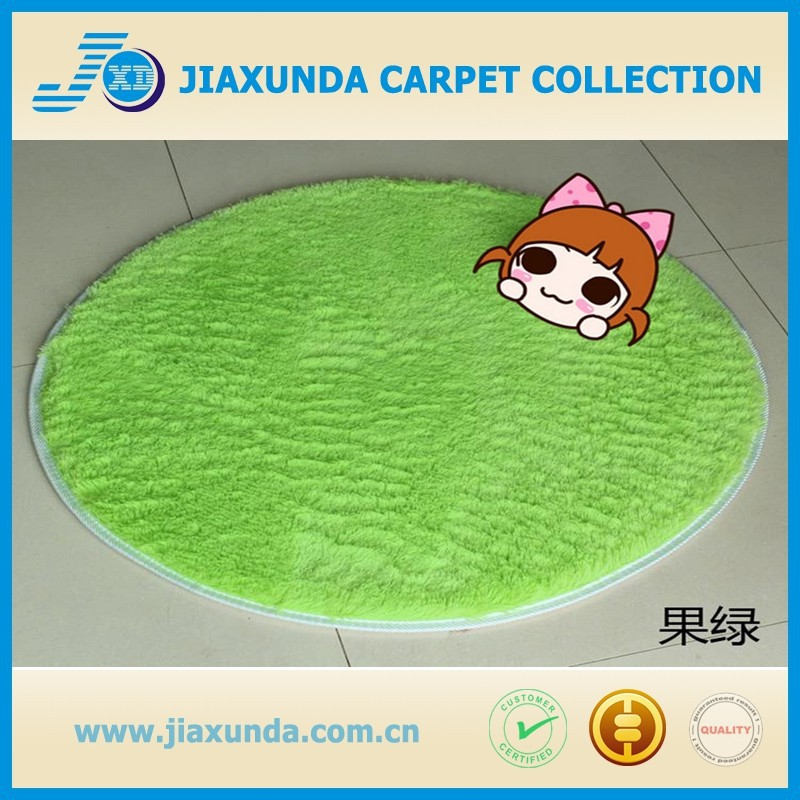 china supplier various color customized round size silk velvet carpet rug