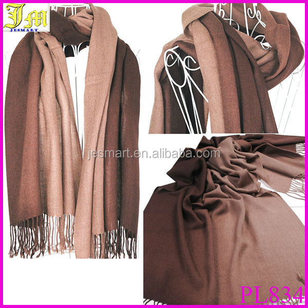 2014 Brand New Women's Fashion Long Large Soft Shawl Stole Pashmina Scarf Gradient Cashmere Scarf Wraps