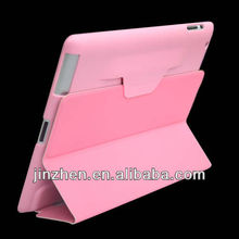 magnificent latest design leather case for ipad 3 /4 pink