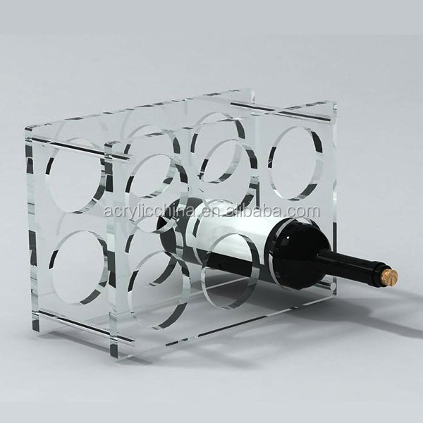 Acrylic pos wine display rack decorative dummy fake wine bottles for display