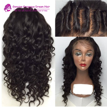 Grade 7a virgin hair, human hair full lace wig, Supply 7a human hair wig natural hairline parting narural
