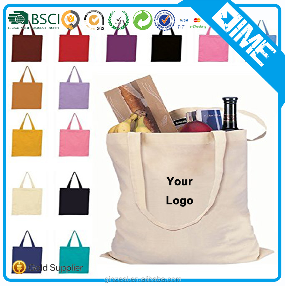 Recycle Organic Cotton Tote Bags Wholesale With Full Print