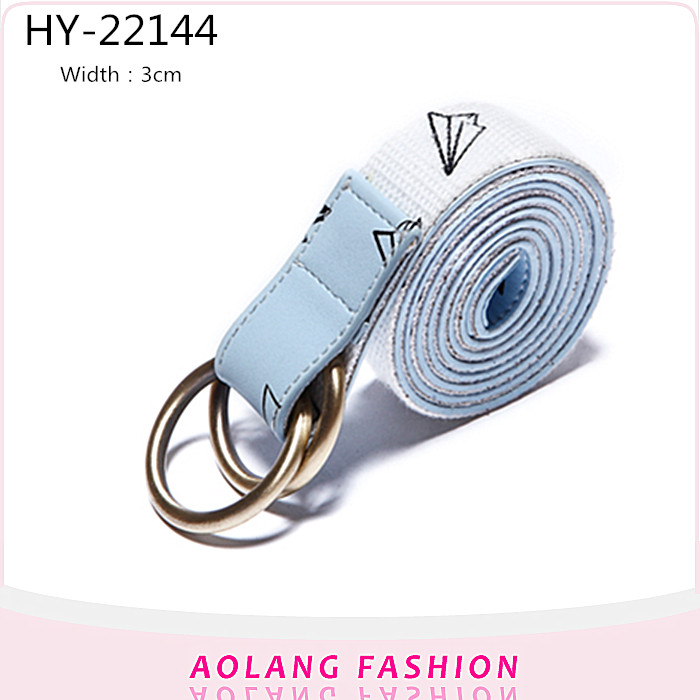 Wholesales lady webbing Canvas Belts With Double D Ring Buckle