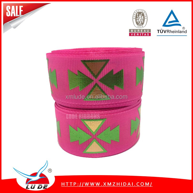 gift packing use grosgrain printed ribbon