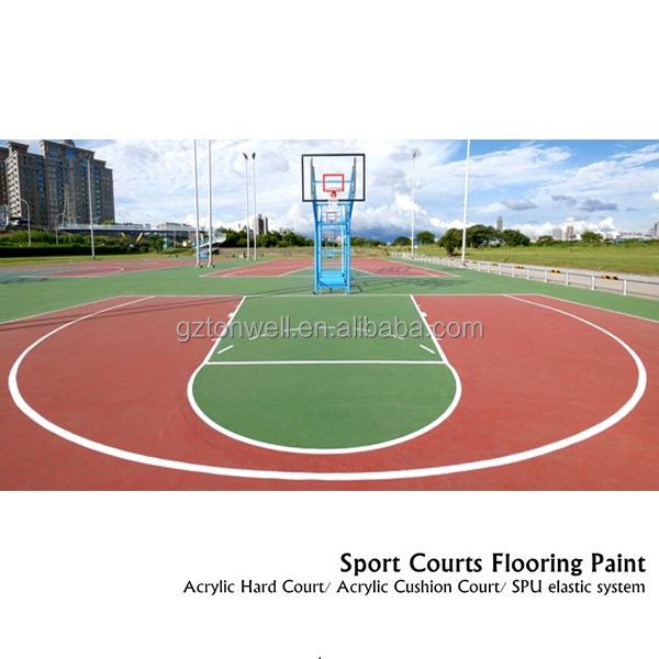 Acrylic basketball court coating flooring paint outdoor sport court flooring