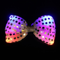 2016 Most popular Led Luminous Party Gadgets Tie Led Flashing Bow Tie