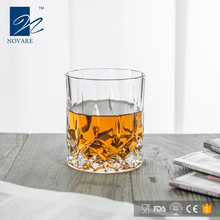 Wholesale Dublin Diamond Cut Machine-made Whiskey Tumbler Glass