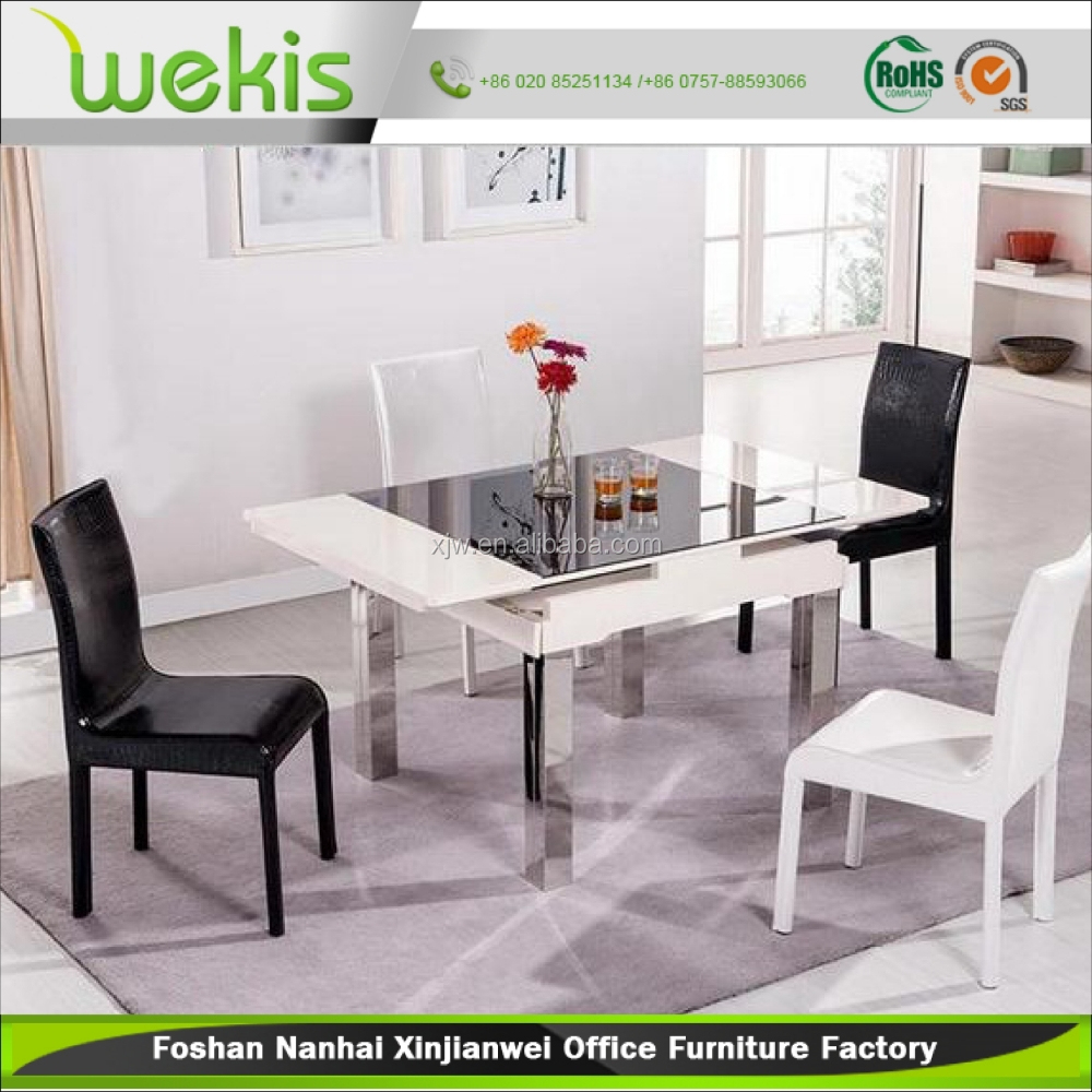 Top Selling Comfortable Design Tempered Glass Dining Table Set