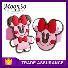 warm welcomed cute cartoon educational toy silicone ring for children without zircon KR2175 MOONSO