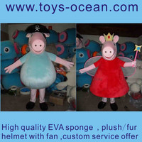 pink pig fur costumes ,pink panther costume,inflatable pig costume