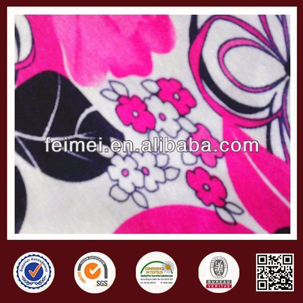 Feimei 100% polyester ity single span fabric 100% polyester printed fabric