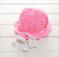 RZWOLF wholesale fashion unique winter pink hand crochet knit newborn baby hats