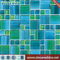 hot sale glass mosaic mixed with shell and slate