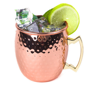 Wholesale 17oz Copper Beer Moscow Mule Stainless steel Mug with Handgrip