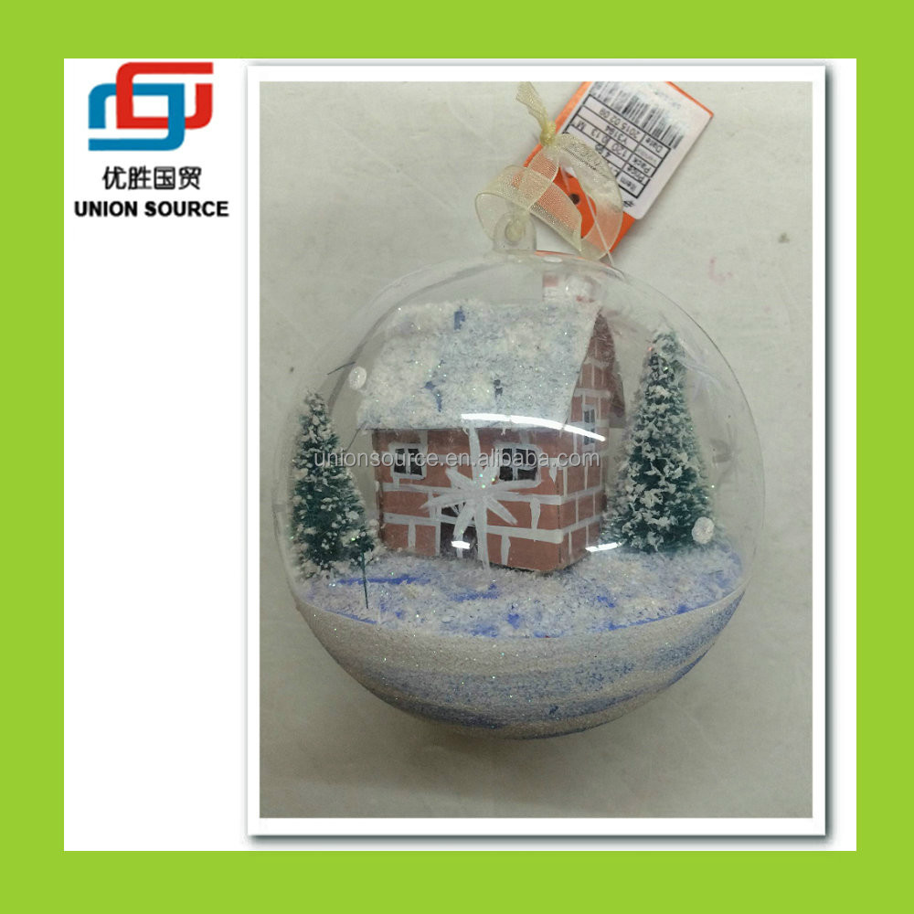Clear Plastic Small Christmas Ball