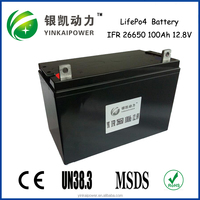 Factory price 12v 100ah 18650 lithium ion dry rechargeable lead acid battery