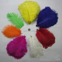 wholesale artificial colorful ostrich feathers for wedding centerpieces