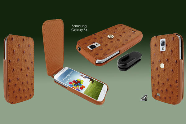 iMagnum ostrich leather case for Samsung Galaxy S4