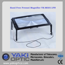 Plastic Fresnel Magnifier with LED / Full Page Magnifier for Older / PVC Magnifier for Reading