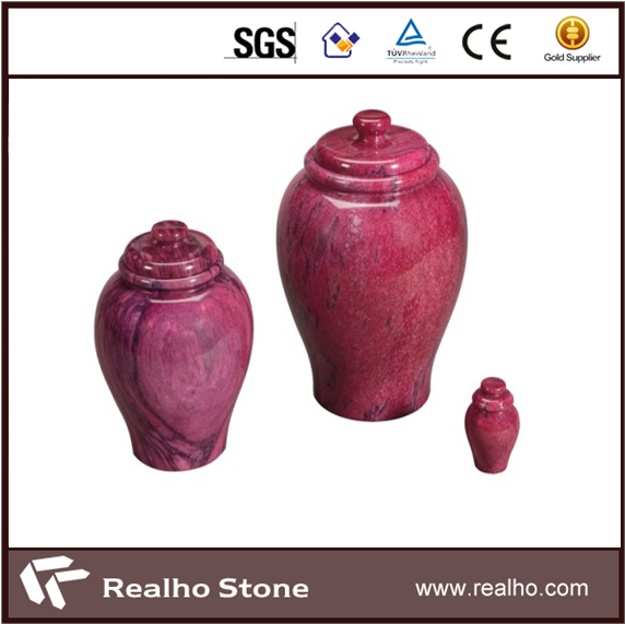 Good Price Red Marble Urns And Pots For Grave