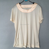 Ladies' 100% Silk Knitted Jersey Short Sleeve T Shirt
