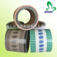 Color printed laminated plastic food packaging film on roll