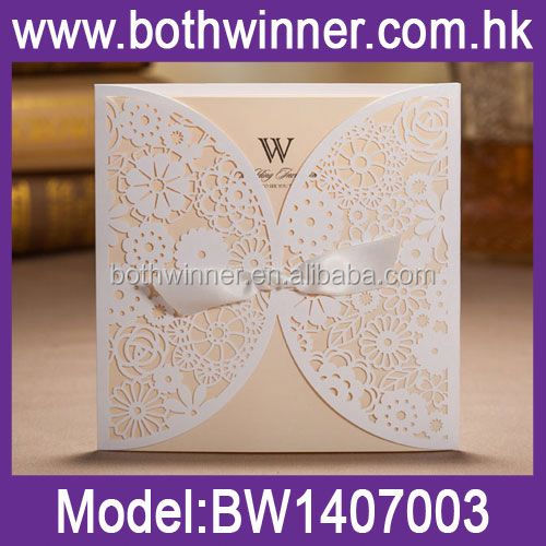 WQ114 royal scroll wedding cards
