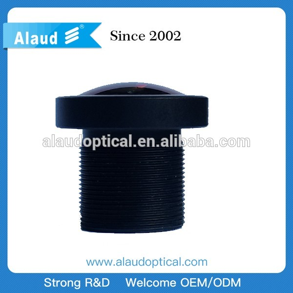 1.8mm 190 degree 5mp m12 fisheye lens for cctv camera