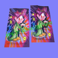 beautiful foil ziplock reclosable mascot carry bag