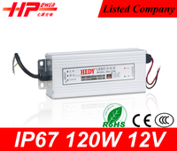 Guangzhou factory wholesale low price waterproof series high warranty constant voltage single output 10a 12v 120w led driver