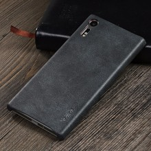 Newest X-Level Simple Style Premium PU Leather Mobile Phone Cover Case for Sony Xperia XZ
