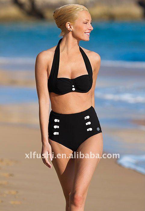 hohe taille aufgef llte reizvolle bikinis f r frauen. Black Bedroom Furniture Sets. Home Design Ideas