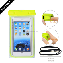 Quality Assured Waterproof PVC Case Bag for iPhone for Samsung with IPX8 Certificated