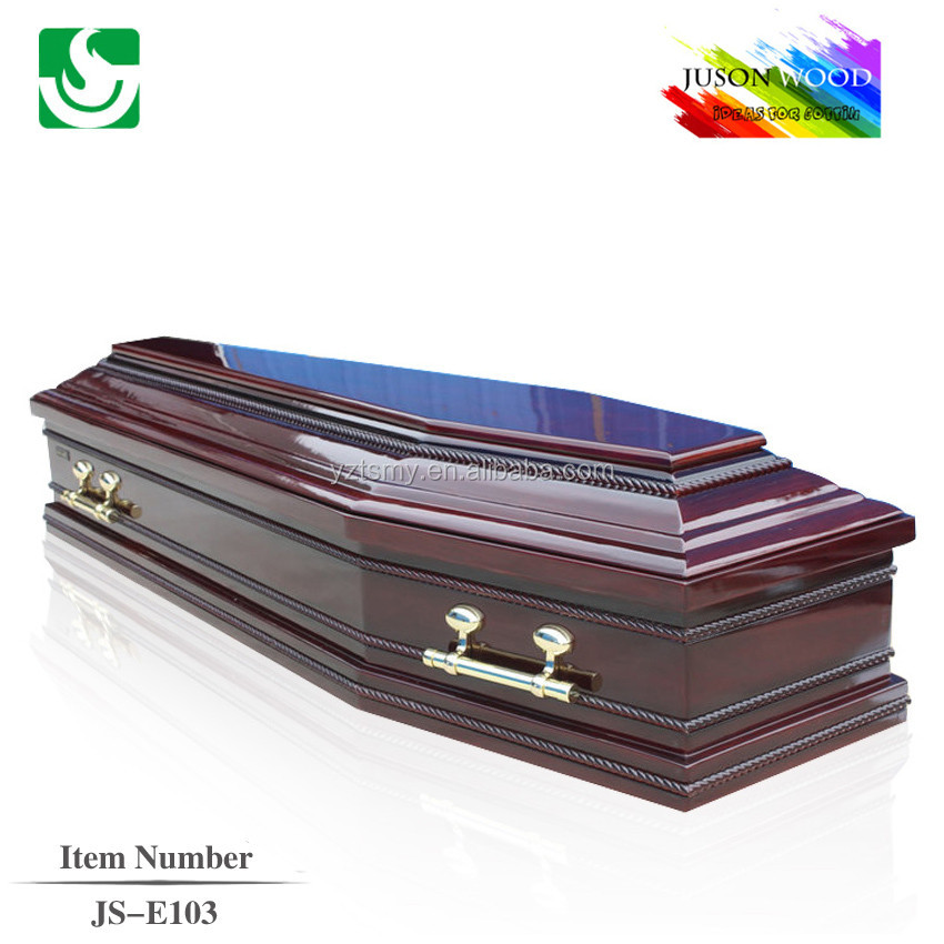 classic wooden mortuary coffin equipment with twist line