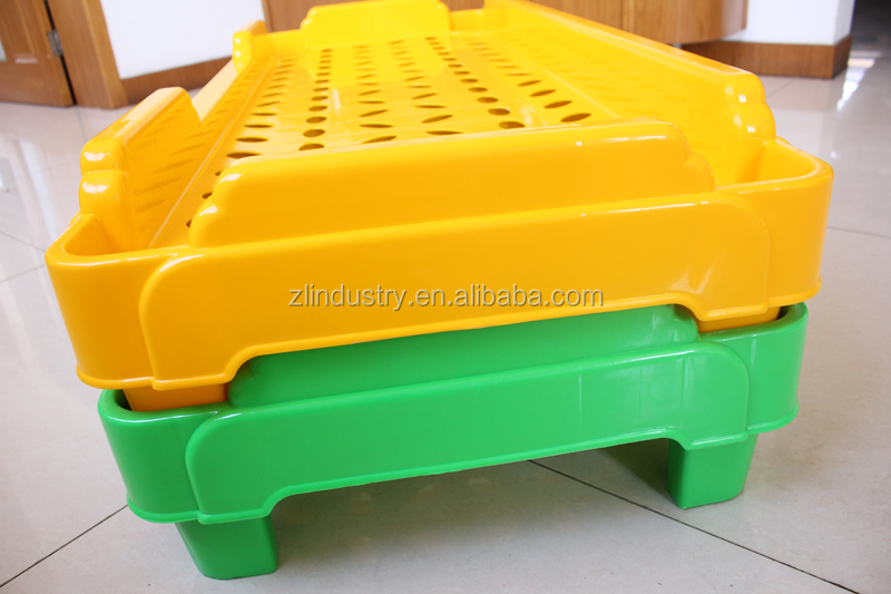 Professional factory stackable school plastic single kid bed