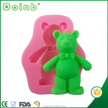 Doinb factory price 3D cartoon bear shaped silicone fondant mold for cake decorating tools ST2969
