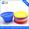 Kitchen silicone flexible folding bowl/silicone folding dog bowl
