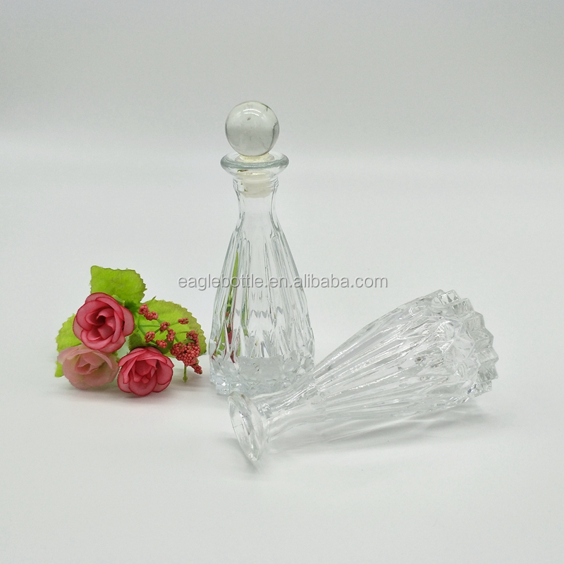 Hot sell 50ml 130ml 150ml flower vase shaped empty aroma reed diffuser glass bottle