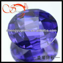 round gemstone violet double faceted cz Special cut gemstone