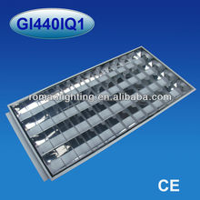 T8 4x36/40W recessed industrial fluorescent lighting fixture, electronic ballasts