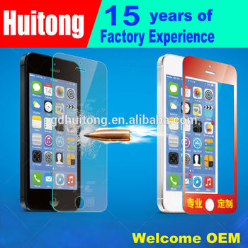 Ultra Clear Anti-Scratch Glass Screen Protector For Iphone5(Dongguan factory)