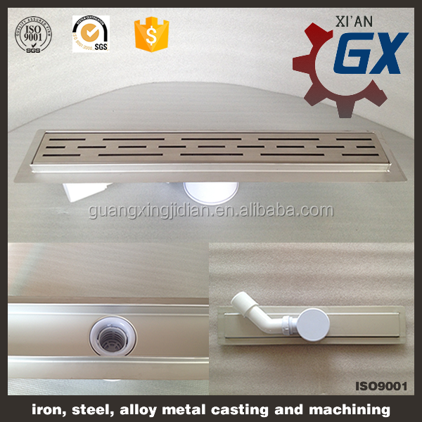 Stainless steel shower metal grate trench drain/drain cover